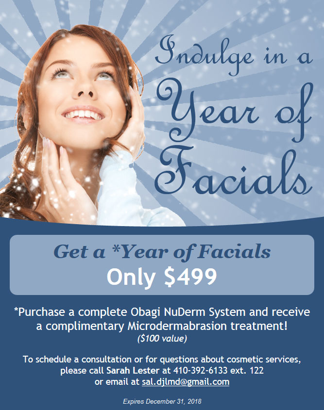 Year of Facials Offer